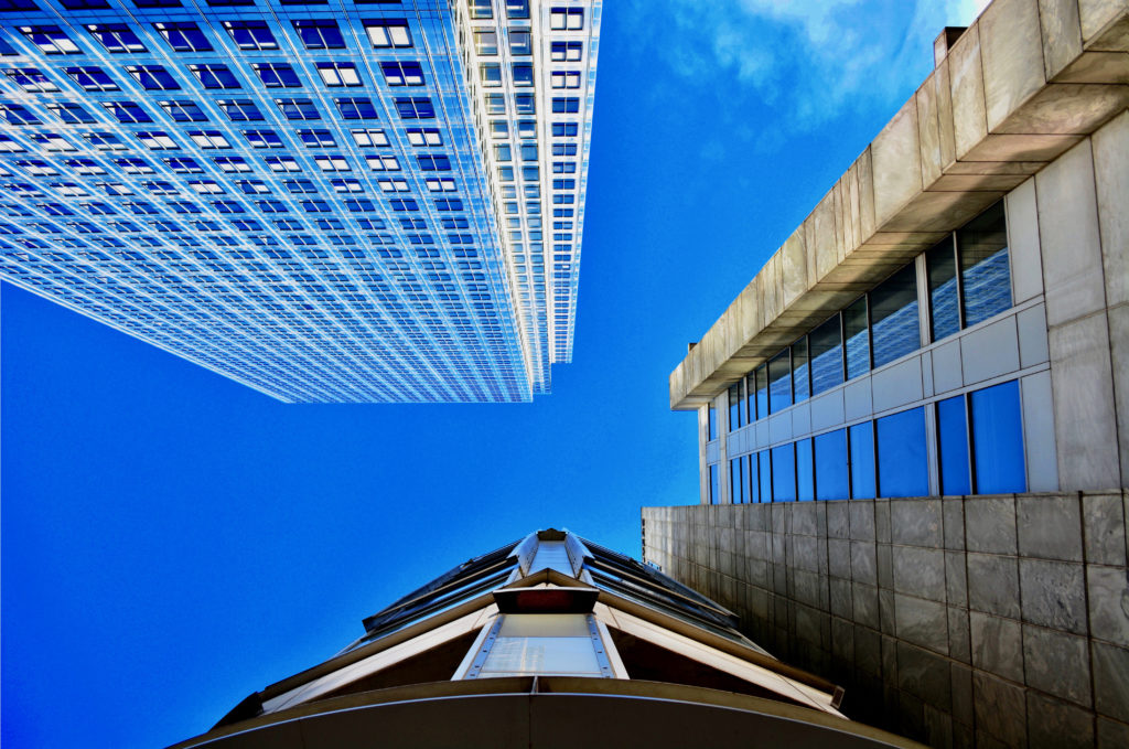 Canary Wharf Looking Up By Matthew Burford