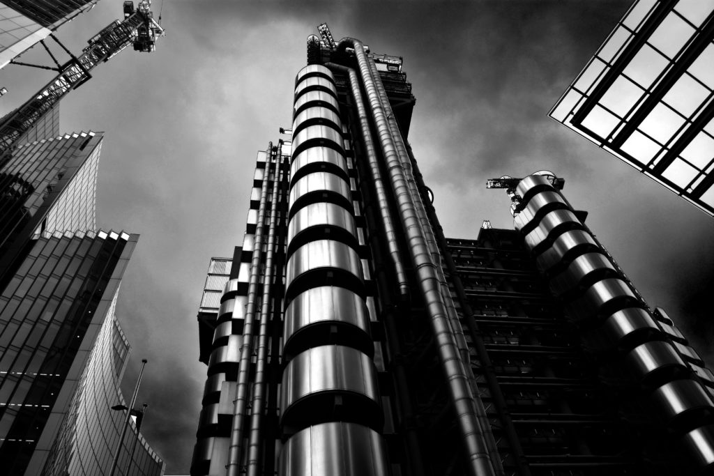 Lloyds Building Black and White by Matthew Burford